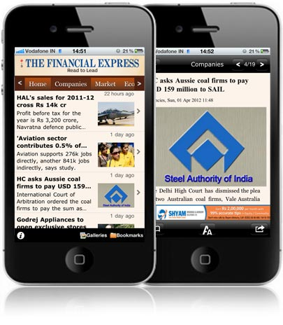 The Financial Express iPhone News App