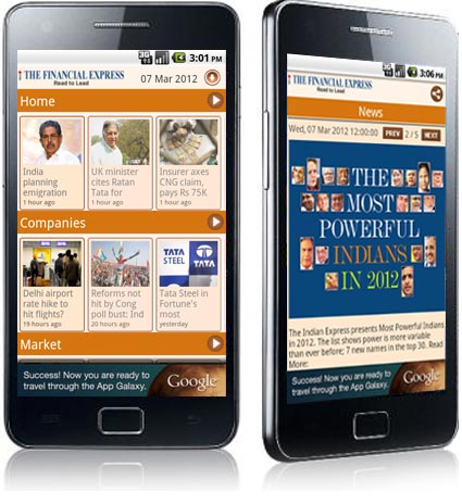 The Financial Express News App for Android Devices